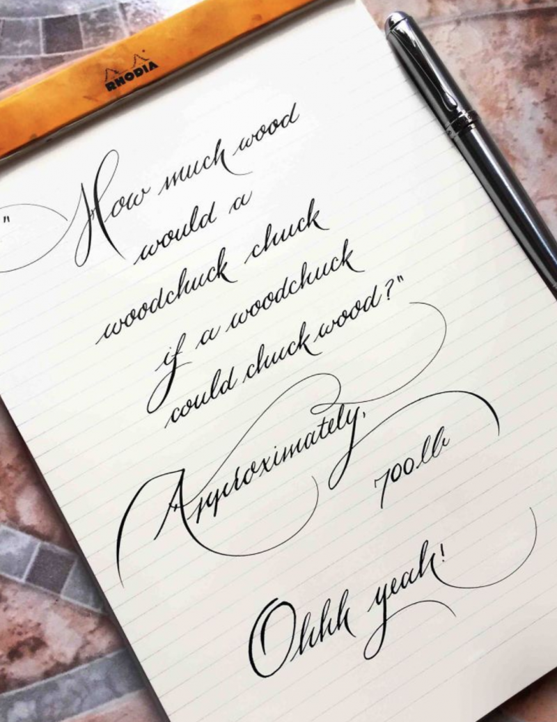 12 handwriting pieces